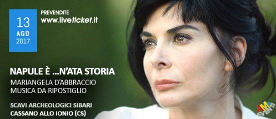 "Mariangela D'Abbraccio ""Napule è …n'ata storia"" al Parco Archeologico di Sibari"