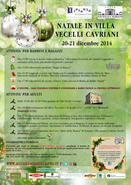 Natale a Villa Vecelli Cavriani a Mozzecane