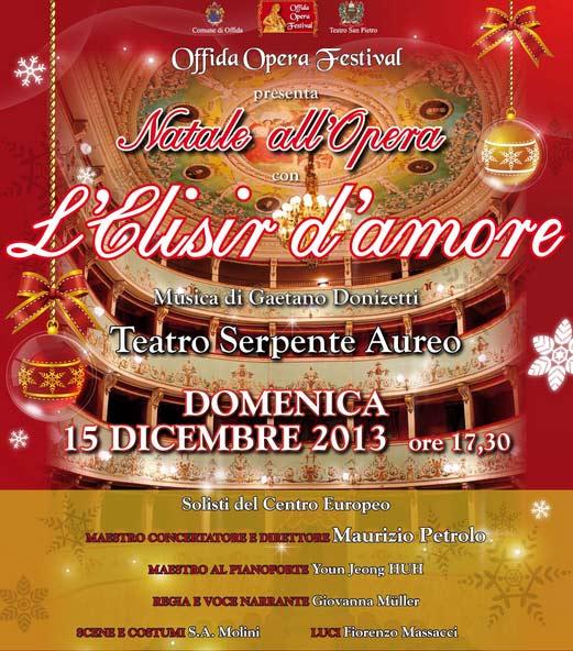 "Natale all'Opera ""L'elisir d'amore"" al Teatro Serpente Aureo di Offida"
