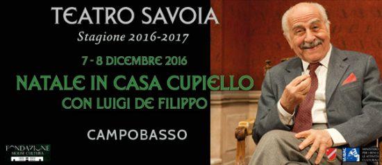 """Luigi de Filippo""""Natale in casa Cupiello"""" al Teatro Savoia di Campobasso"""
