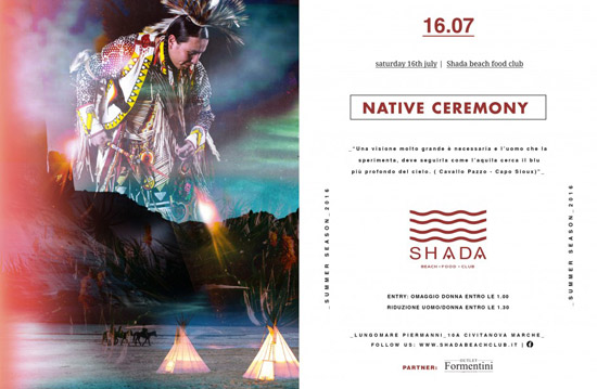 Native Ceremony allo Shada Beach Club a Civitanova Marche