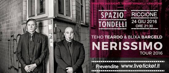 """Teho Teardo e Blixa Bargeld """"Nerissimo Tour 2016"""" allo Spazio Tondelli di Riccione"""