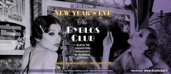 Capodanno anni '30 al Byblos Club a Misano Adriatico