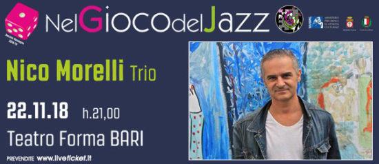 Nico Morelli Trio al Teatro Forma di Bari