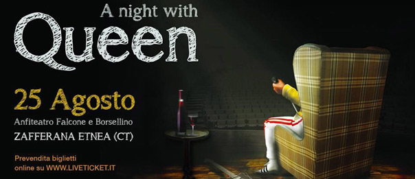 A night with QUEEN all'Anfiteatro Falcone Borsellino a Zafferana Etnea