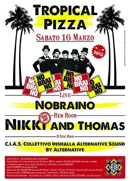 """""""Nobraino"""" live al Velvet di Rimini"""