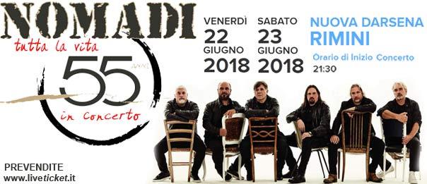 Nomadi tutta la vita 55 anni alla Nuova Darsena a Rimini