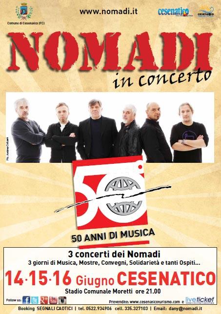 """""""Nomadi 50"""" tre giorni di concerti allo Stadio Moretti di Cesenatico"""