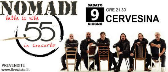 Nomadi tutta la vita 55 anni in Piazza Vittorio Emanuele II a Cervesina