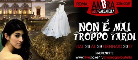 Non è mai troppo tardi al Teatro Ambra Garbatella di Roma