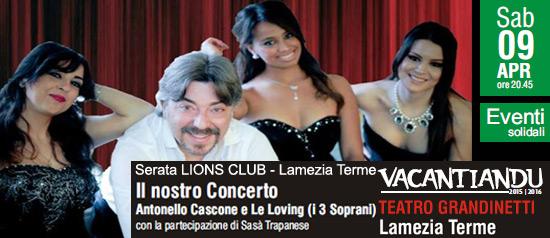 """Sasà Trapanese """"Il nostro concerto""""al Teatro Grandinetti di Lamezia Terme"""