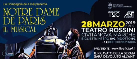"""""""Notre Dame De Paris"""" Il Musical al Teatro Rossini di Civitanova Marche"""