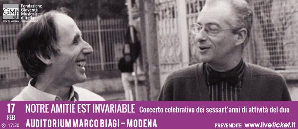 Notre amitié est invariable all'Auditorium Marco Biagi di Modena