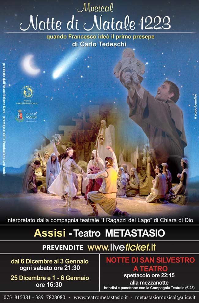 """Notte di Natale 1223"" al Teatro Metastasio di Assisi"