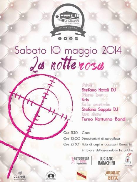 La notte rosa contro la violenza sulle donne alla Capannina di Forte dei Marmi