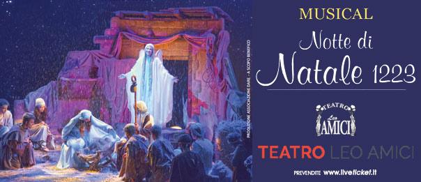Notte di Natale 1223 al Teatro Leo Amici al Lago di Monte Colombo