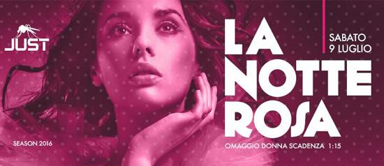 La Notte Rosa al Just DiscoClub di Portopino