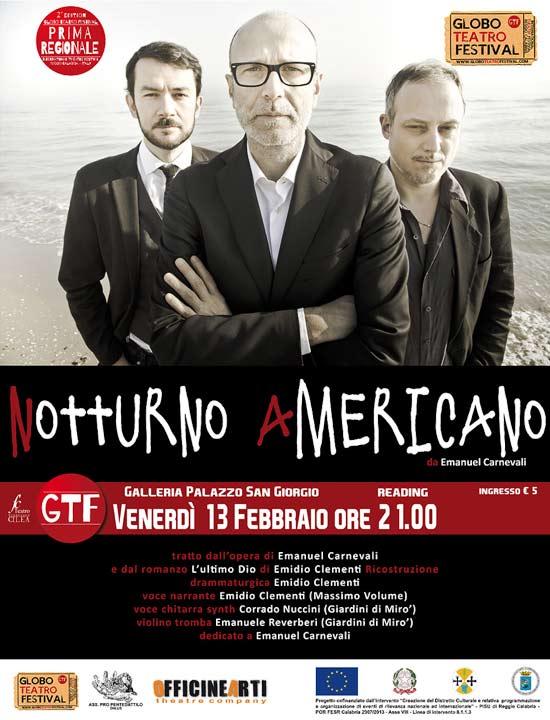 """""""Notturno Americano"""" al Globo Teatro Festival a Reggio Calabria"""
