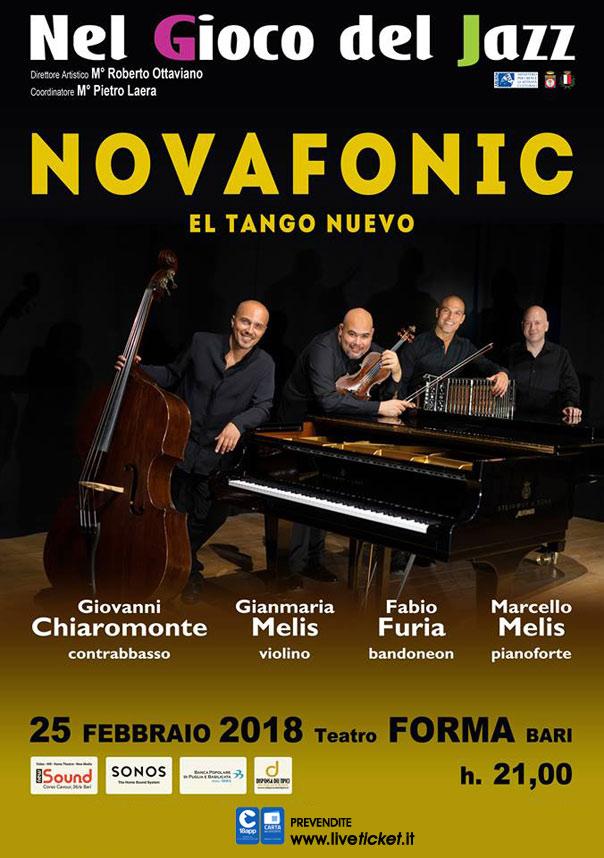 """""""El Tango Nuevo"""" Novafonic Quartet al Teatro Forma di Bari"""