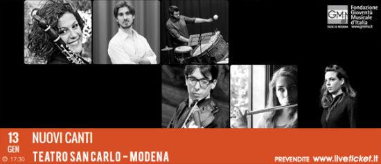 Nuovi canti al Teatro San Carlo a Modena