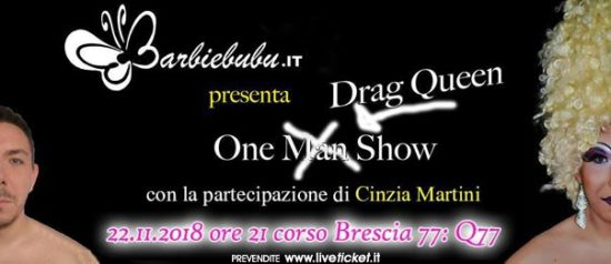 One Drag Queen show al Q77 di Torino