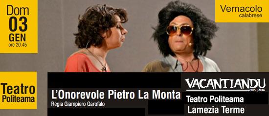 L'Onorevole Pietro La Monta al Teatro Politeama di Lamezia Terme