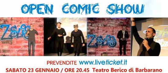 Open Comic Show a Barbarano a Teatro