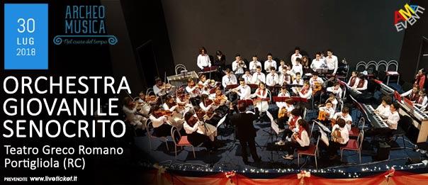 Orchestra Giovanile Senocrito al Teatro Greco Romano a Portigliola