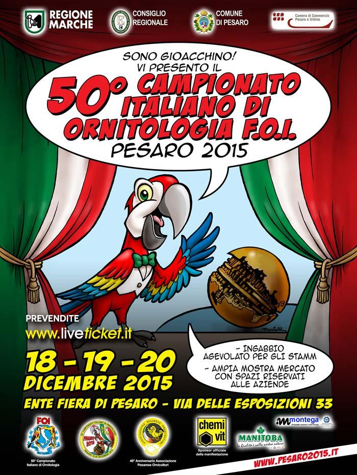 50^ Campionato Italiano di Ornitologia F.O.I. a Pesaro