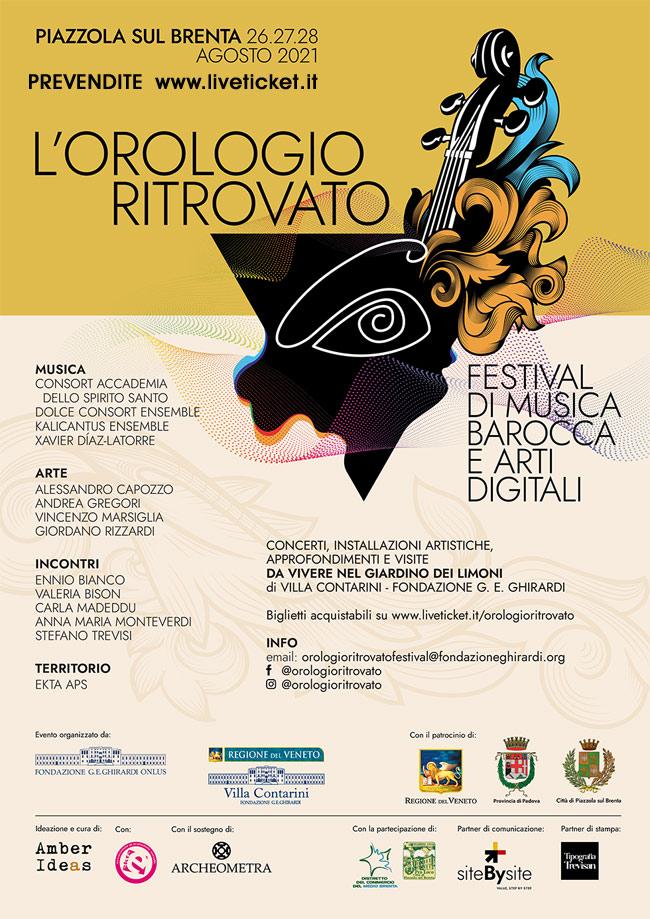 """Festival """"L'Orologio Ritrovato"""" a Piazzola sul Brenta"""