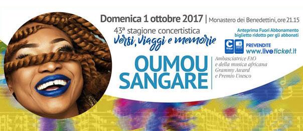 Oumou Sangaré al Chiostro ex Monastero Benedettini a Catania