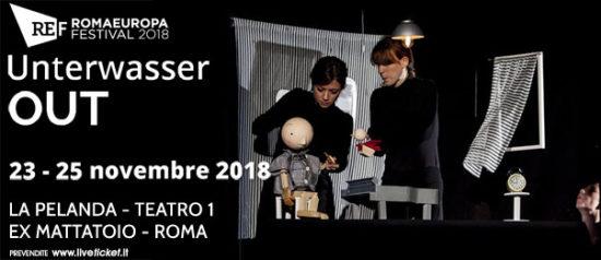 """Romaeuropa Festival 2018 - Unterwasser """"Out"""" a La Pelanda a Roma"""