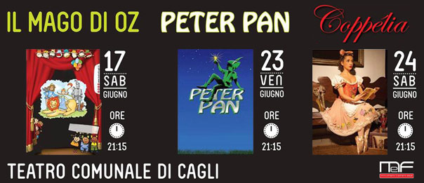 """""""Il mago di Oz"""", """"Peter Pan"""" e """"Coppelia"""" al Teatro di Cagli"""