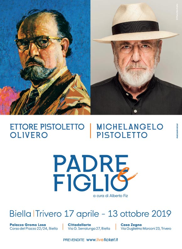 """""""Padre e Figlio"""" Ettore Pistoletto Olivero - Michelangelo Pistoletto a Biella e Trivero"""