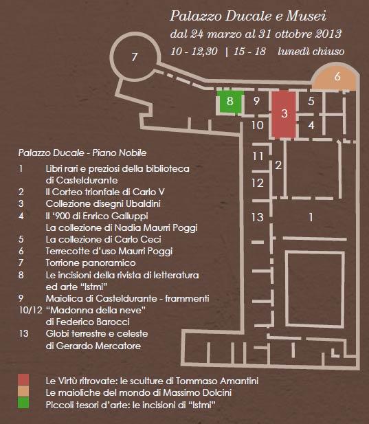 Collezioni a Palazzo Ducale di Urbania