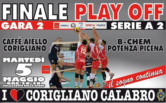 Playoff Caffè Aiello Corigliano VS Bchem Potenza Picena