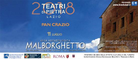 Pan Crazio all'Area Archeologica Malborghetto a Roma