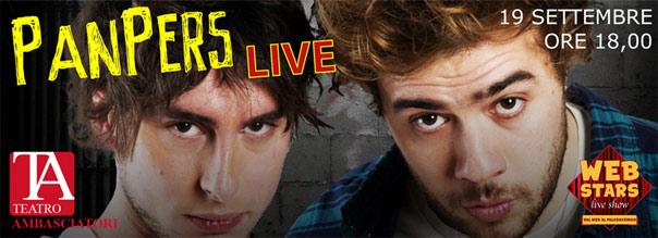 "Web Stars Live Show ""Panpers Live"" al Teatro Ambasciatori di Catania"