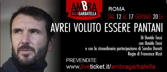 Avrei voluto essere Pantani al Teatro Ambra alla Garbatella di Roma