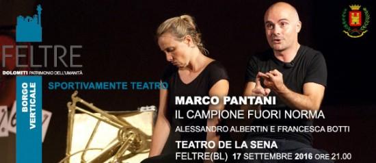 Marco Pantani - Il campione fuori norma al Teatro de la Sena a Feltre