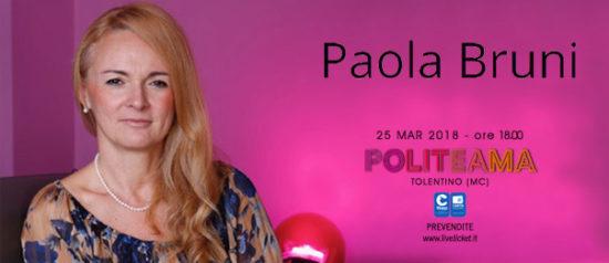 Paola Bruni al Politeama di Tolentino