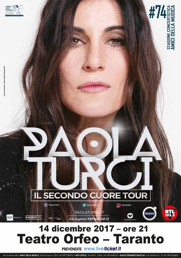Paola Turci al Teatro Orfeo di Taranto