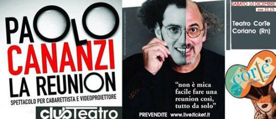 """Paolo Cananzi """"La Reunion"""" al Teatro CorTe di Coriano"""