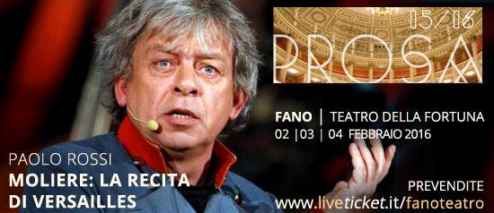 Paolo Rossi in Moliere:la recita di Versailles al Teatro della Fortuna di Fano