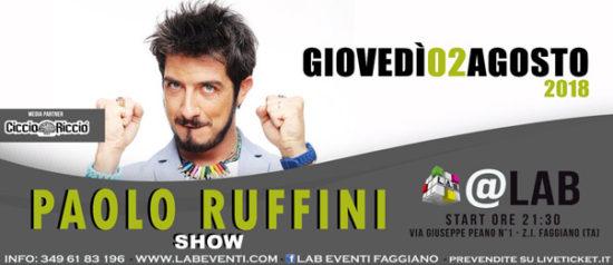 Paolo Ruffini Show a LAB Eventi a Faggiano