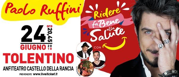 """Paolo Ruffini """"Ridere fa bene alla salute"""" al Castello della Rancia a Tolentino"""
