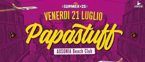 Papastuff all'Ausonia Beach Club di Trieste