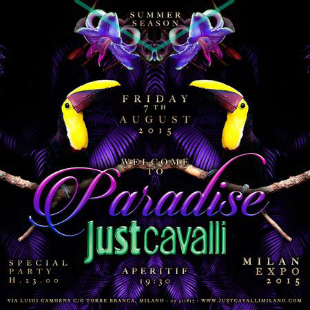 Welcome to Paradise al Just Cavalli Club di Milano
