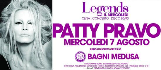 """""""Il Mercoledì Medusa Legends"""" Patti Pravo a San Benedetto del Tronto"""