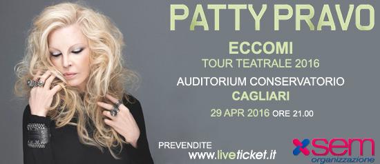 """""""Patty Pravo in ECCOMI"""" Tour teatrale 2016 Cagliari"""